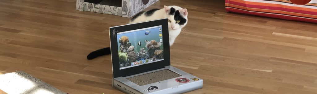 SUCK UK Katzen Kratz-Laptop