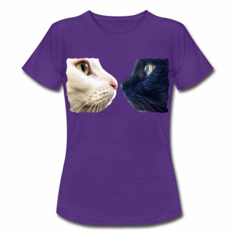 Sternchen und Tiger gegenüber auf blauen T-Shirt