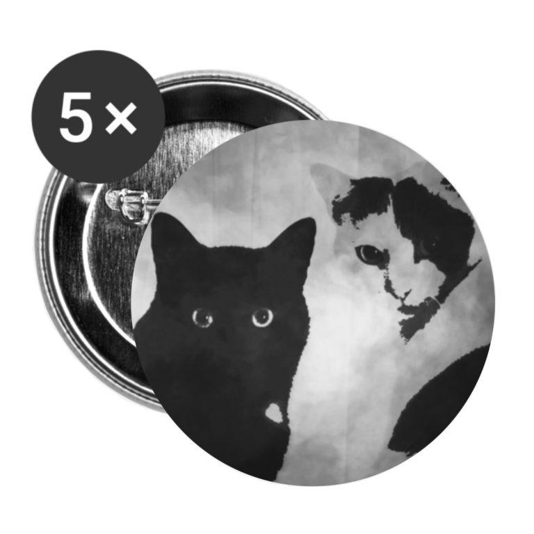 Tiger und Sternchen Logo auf Button